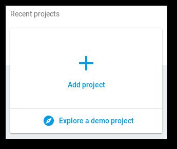 Imagem com a opção de adicionar um novo projeto no firebase