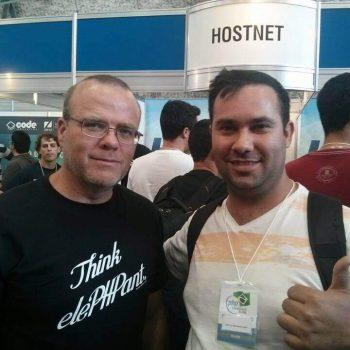 Eu e o criador da linguagem de programação PHP